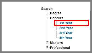 nu honours 1st year