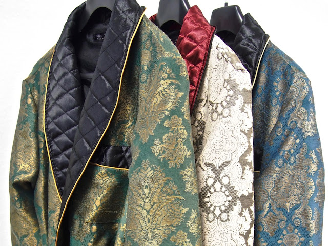 mens quilted silk dressing gowns paisley long warm robes for men victorian vintage style