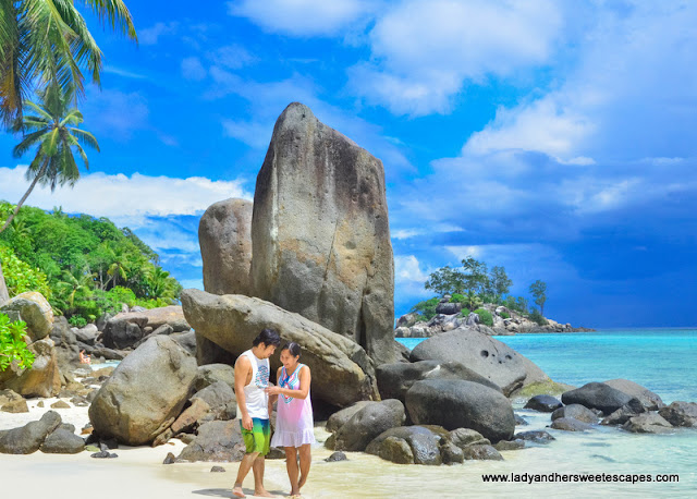 Ed and Lady in Anse Royale Seychelles
