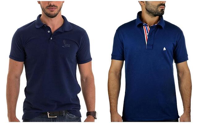 Look masculino para a copa, Camisa polo azul
