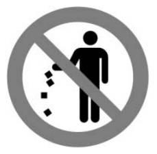 쓰레기를 버리지 마십시오