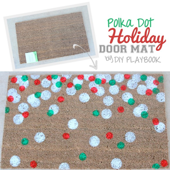 DIY holiday doormat