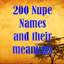 200 Nupe Names and their meanings