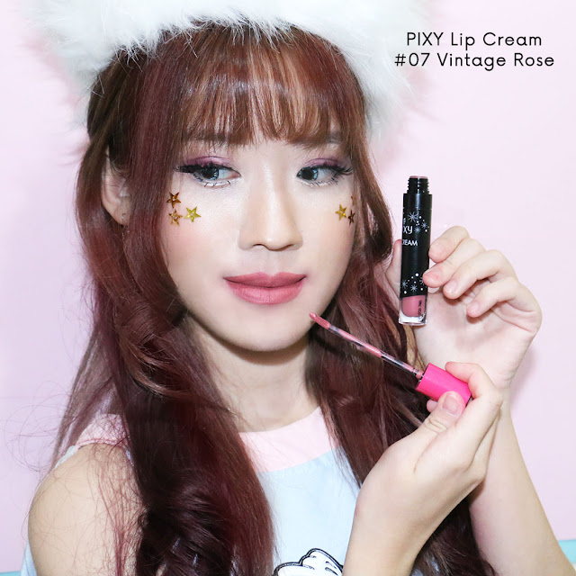 PIXY LIP CREAM vintage rose #07 review