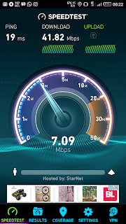 Speedtest Axis 4G dapet 41 Mbps