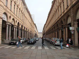 Via Roma is one of Turin's main shopping streets
