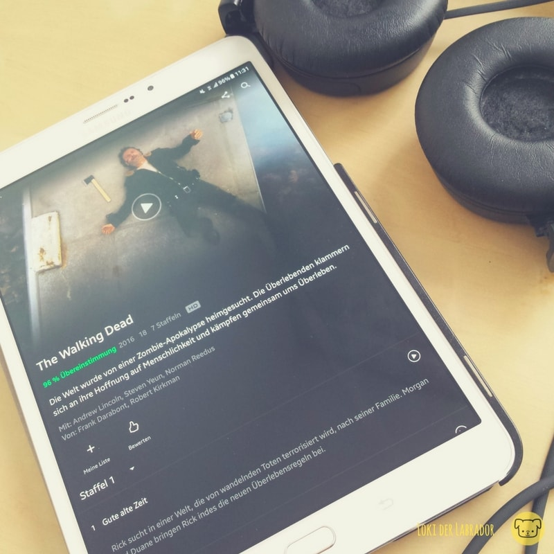 Tablet mit Netflix The Walking Dead