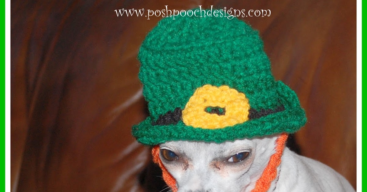 Crochet Hat Patterns For Dogs Free : Posh Pooch Designs Dog Clothes: Crochet Pattern ...