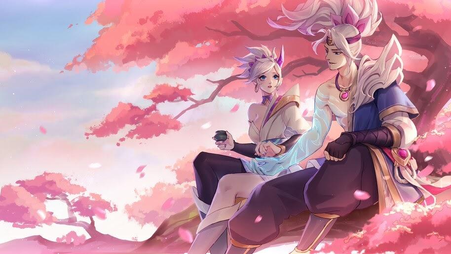 Yasuo and Riven, Spirit Blossom, LoL, 4K, #5.2645