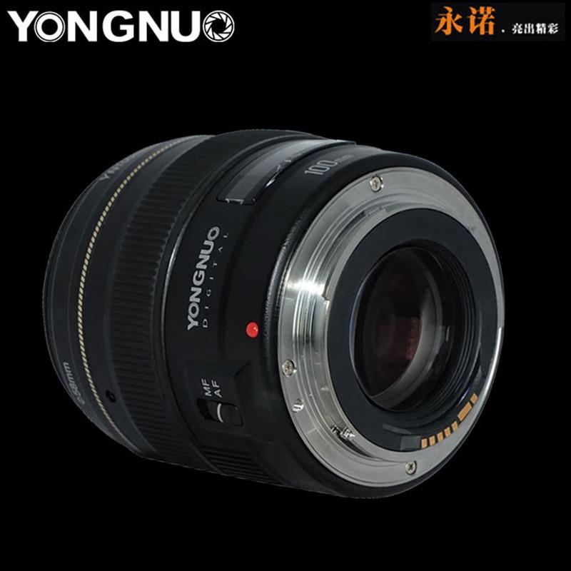 Объектив Yongnuo YN 100mm f/2, вид сбоку