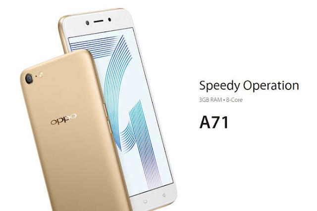 merupakan ponsel besutan vendor Oppo terbaru yang dibariskan pada jajaran A Series Spesifikasi dan Harga OPPO A71, Android Nougat Murah Dengan RAM 3GB