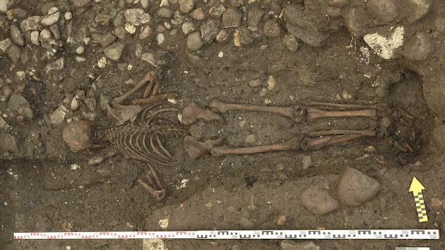 Puzzling 17th century grave of man buried face down discovered in Switzerland