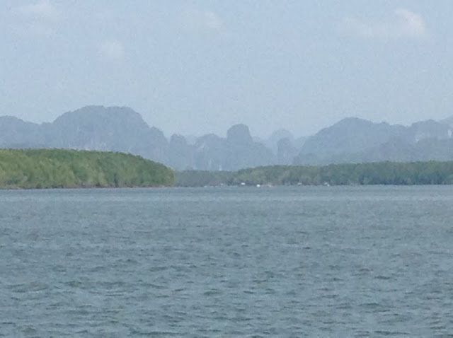 Views of Phranang from the Longtail Boat