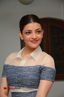 Actress Kajal Agarwal Latest Stills at Khaidi No 150 Movie Interview  0003.JPG