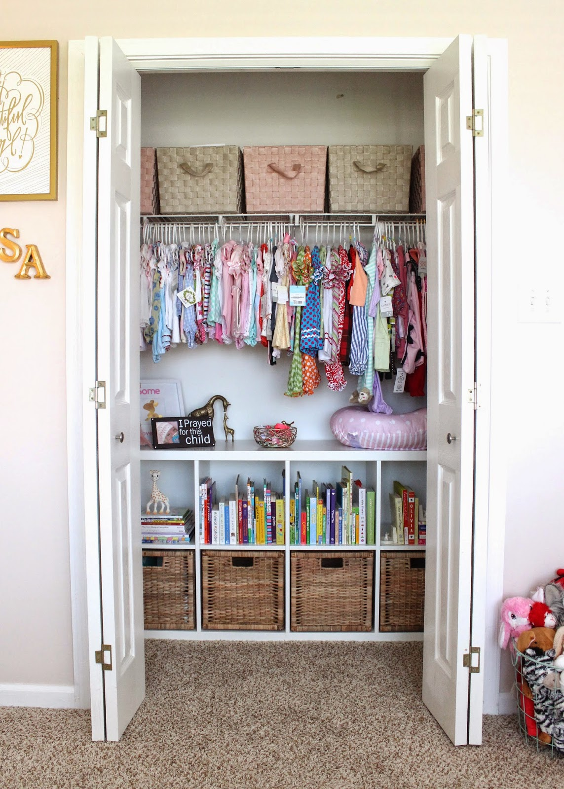 And Organized Baby Room Closet from http://dwellingandtelling.blogspot.com