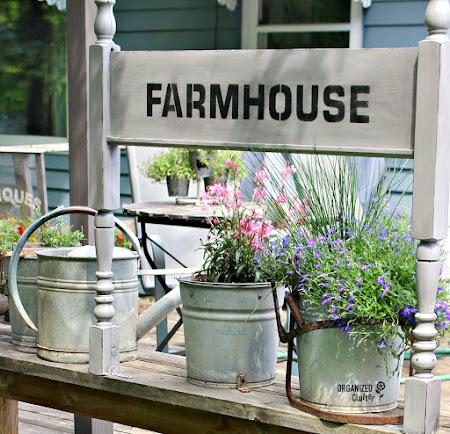Footboard to Farmhouse Sign