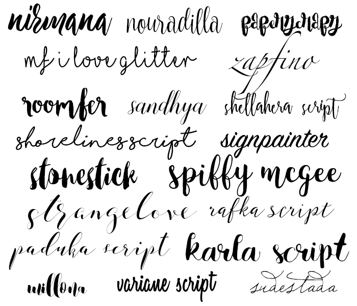 More Free Brush Script Fonts Oh Erin Writes