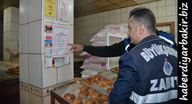 Diyarbakır Büyükşehir Belediyesinden fırın denetimi