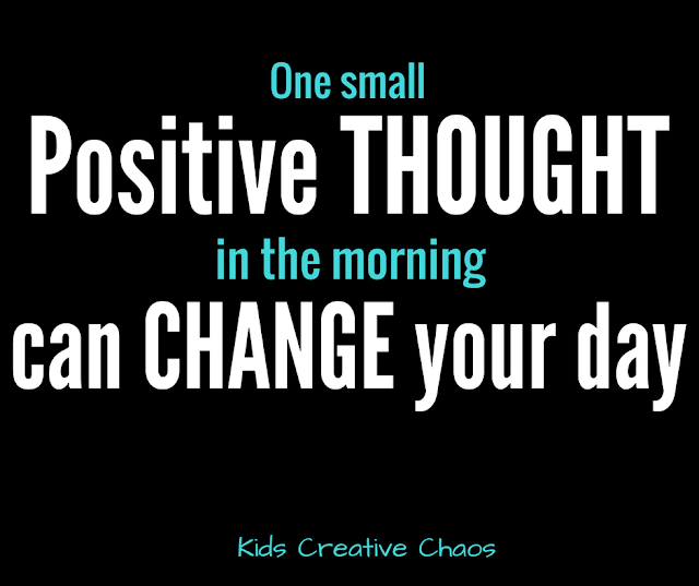 One small positive thought can change your day quote for Facebook