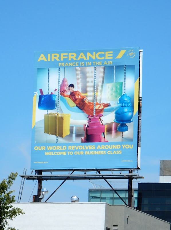 Air France Our world revolves around you Business Class billboard