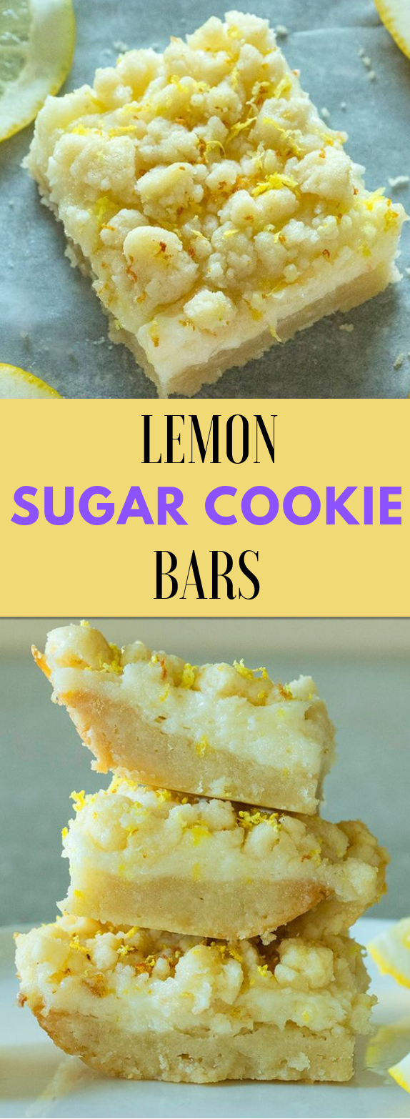 LEMON SUGAR COOKIE BARS #dessert #bars