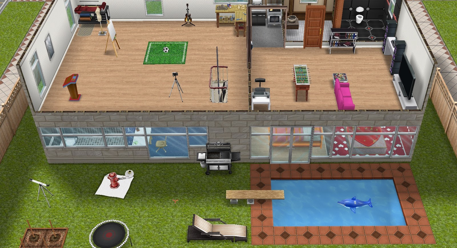 The sims freeplay it case per vicini for Case the sims 3 arredate
