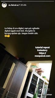 Cara Mudah Repost Instastory - maspaical.com