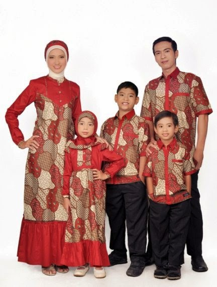 Model Baju Muslim Pesta Sarimbit Keluarga Modern
