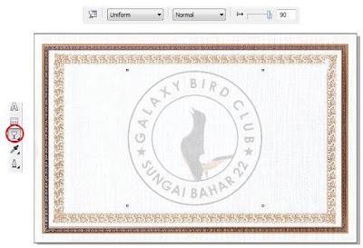 Membuat Desain Piagam Penghargaan Lomba Burung dengan CorelDRAW X4