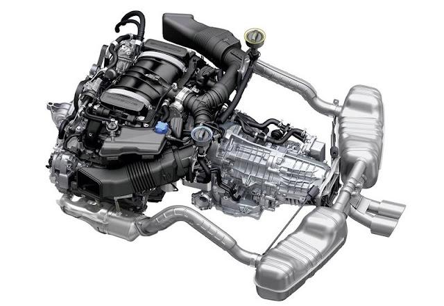 2014 Porsche Cayman Turbo Engine