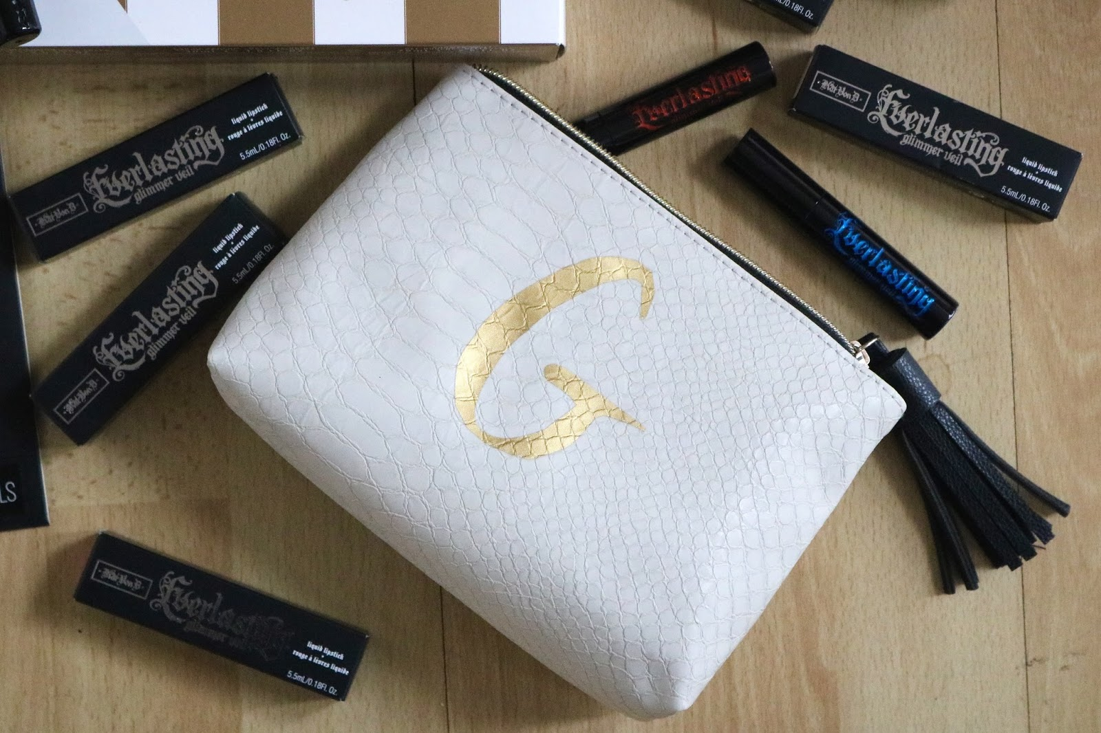Next initial makeup bag