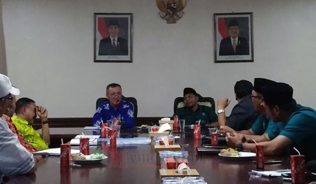 Audensi pengurus DPC PKB Lumajang dengan Plt Bupati dr. Buntaran