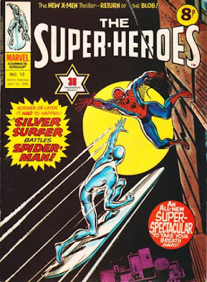 Marvel UK, The Super-Heroes #13, Silver Surfer vs Spider-Man