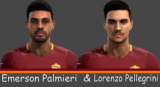 Faces Emerson Palmieri & Lorenzo Pellegrini PES 2013