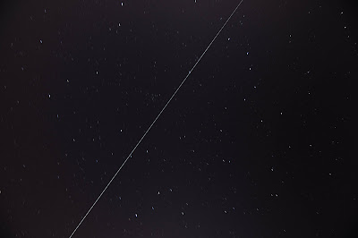International Space Station track (30 second exposure)