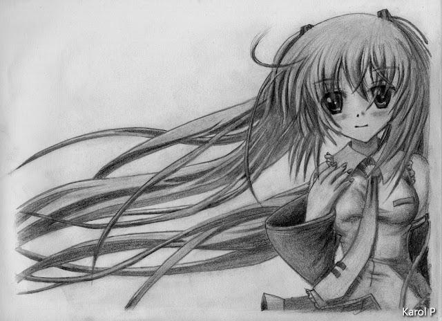 Miku Hatsune - Vocaloid - Graphite Drawing