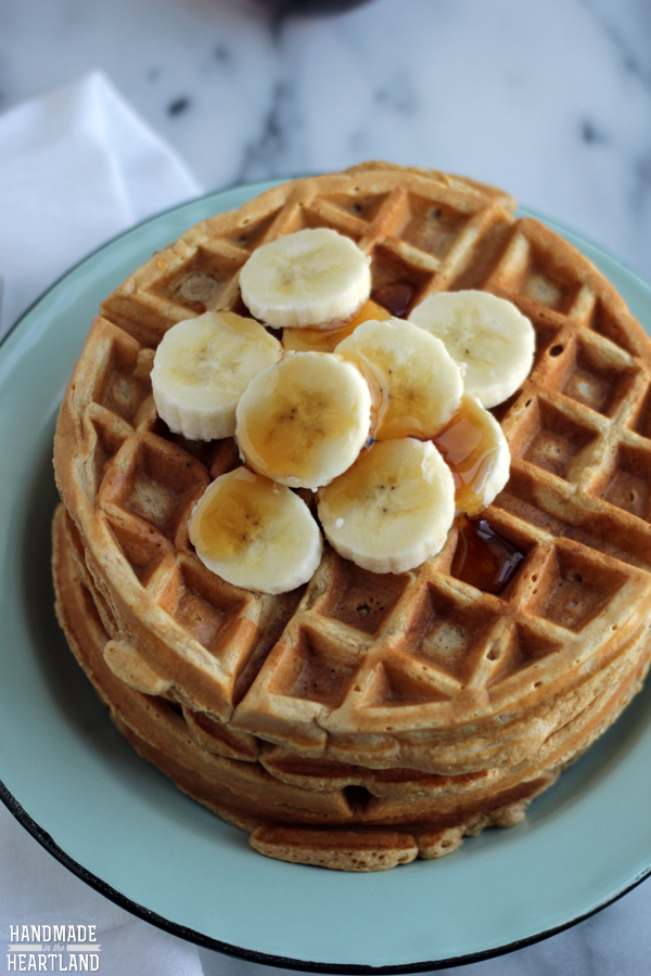 Healthy Whole Wheat Waffles Recipe, egg and oil free