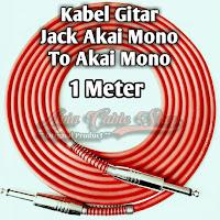 kabel gitar 1 meter jack akai mono to akai mono kabel technica javejuan