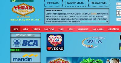 Daftar dan Login Vegastogel, link alternatif Vegas Togel Wap Dan Mobile