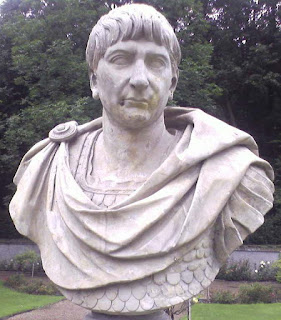 This bust of the Emperor Trajan, one of many, can be  found in the Royal Baths Park in Warsaw, Poland
