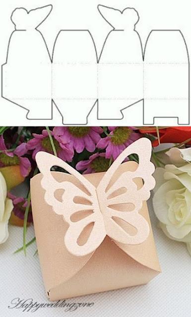 preciosa caja con mariposa descarga molde gratis