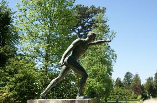 Jardins de Versailles, statue, bosquet, gladiateur.
