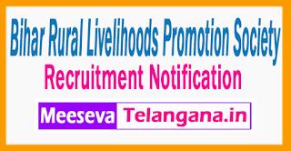 Bihar Rural Livelihoods Promotion Society Recruitment Notification 2017 Last Date 30-06-2017