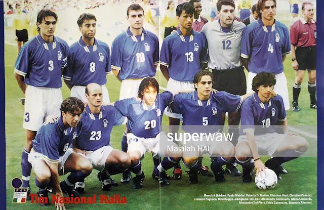POSTER TIM NASIONAL ITALIA 1997