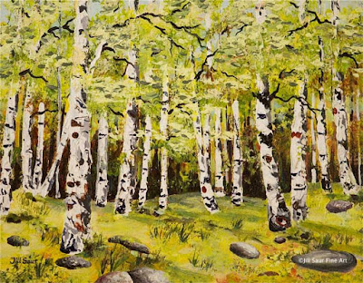 find birch tree paintings