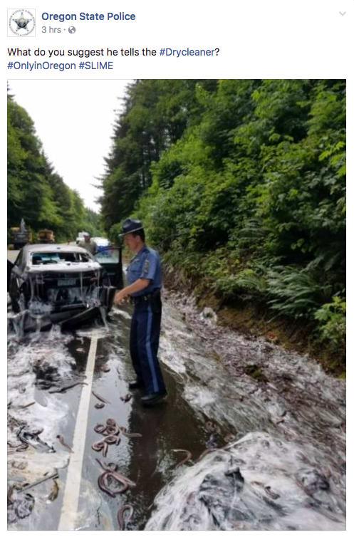 حادثة شاحنة مليئة