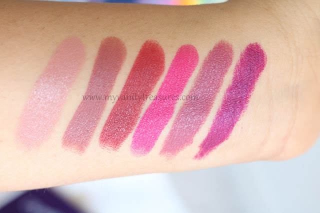 Colourpop back to cool collection swatches