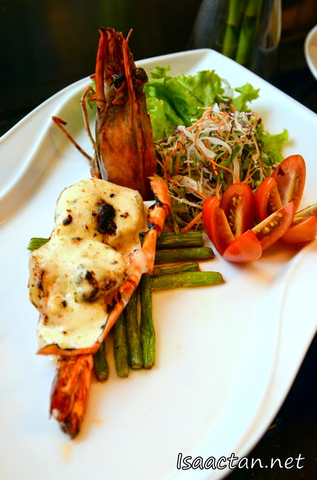 #6 Kuruma Ebi ChizuYaki (Tiger Prawns grilled with cheese) - RM32