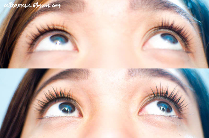 Mistine Super Model Miracle Lash Before and After Comparison