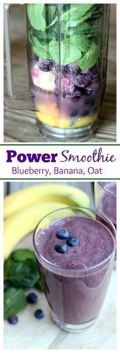 Power Smoothie (Blueberry, Banana, Oat)